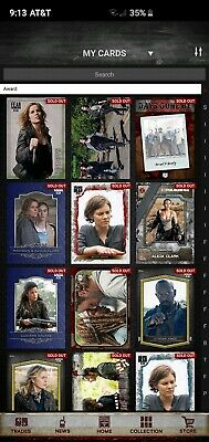 Entire Collection!! Over 75000 Cards. Topps Walking Dead Card Trader Digital