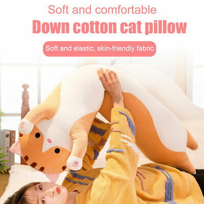 Long Cat Cartoon Soft Plush Doll Stuffed Throw Pillow Cute Toy Gift Home Decor