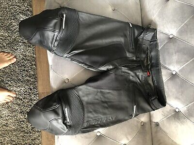 Dainese Alien Leather Pants Sports Touring Motorcycle Black Eu56 Short/us46