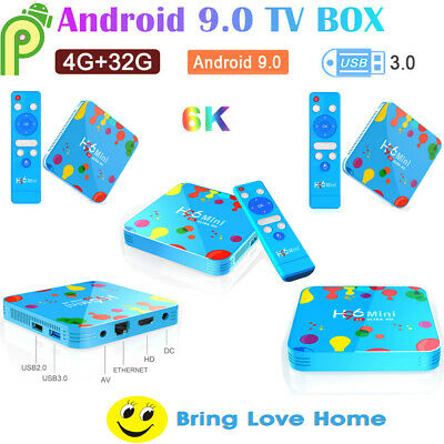 5x H96 Mini Android9.0 Smart Tv Box 32gb Quad Core64k Hd 5.8ghz Wifi Hd 6k K7e8