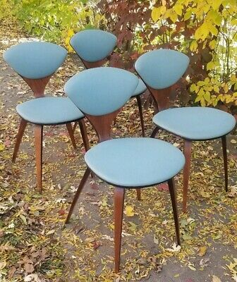 Set Of Four Vtg Original Mid Century Norman Cherner Plycraft Dining Chairs Mcm