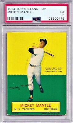 1964 Topps Stand-up Mickey Mantle Psa 5 New Label Gorgeous Yankee Hof Card Hot!