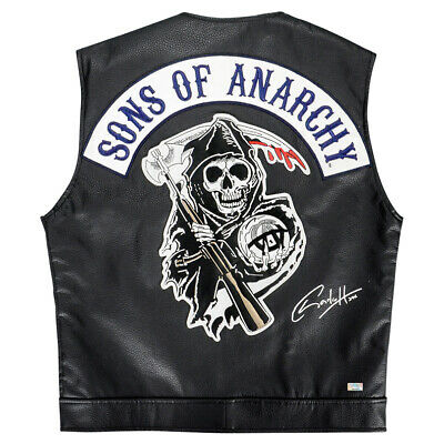 Charlie Hunnam Autographed Sons Of Anarchy Jax Licensed Leather Vest Samcro