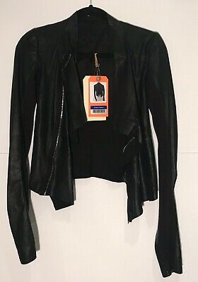 Shadowhunters Screen Worn Clary Rick Owens Leather Draped-front Jacket Size 4