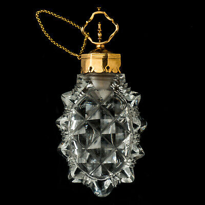 Antique Gold Mounted Cut Crystal Glass Scent Bottle France C.1760