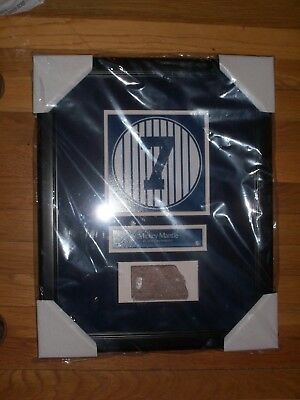 Mickey Mantle Old Yankee Stadium Monument Park Retired Number Plaque With Brick