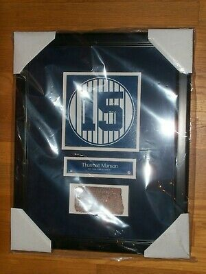 Thurman Munson Old Yankee Stadium Monument Park Retired Number Plaque With Brick