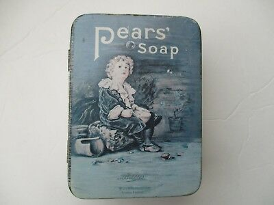 Pears Soap Metal Tin Box Advertising Promotion Boy Blowing Bubbles