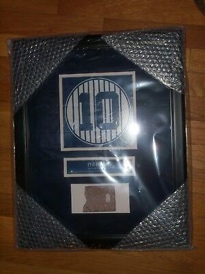 Phil Rizzuto Old Yankee Stadium Monument Park Retired Number Plaque With Brick