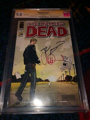 The Walking Dead #75 Signed By Charlie Adler And Robert Kirkman.  Sdcc 2010 Ed