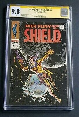 Nick Fury Agent Of Shield #6 • Mint 9.8 Steranko Signed • White • Only 1 Exists!