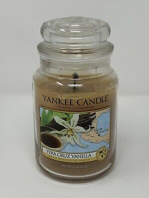 Lightly Used Yankee Candle 22oz Vera Cruz Vanilla Rare Hard To Find Scent