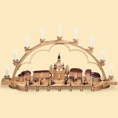 German Candle Arch Old City Of Dresden, Length 103 Cm / 41 Inch, .. Mu 12004 New