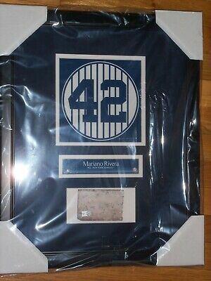 Mariano Rivera Old Yankee Stadium Monument Park Retired Number Plaque With Brick