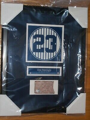 Don Mattingly Old Yankee Stadium Monument Park Retired Number Plaque With Brick