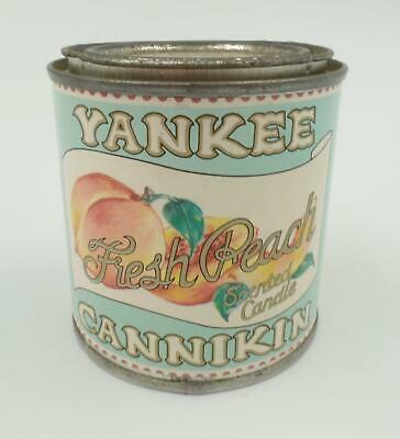 Yankee Cannikin Scented Tin Candle Fresh Peach Can Paraffin Essential Oils Vtg