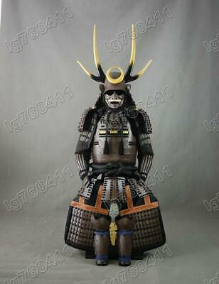collected wearable japanese rüstung samurai armor suit coffee black h01
