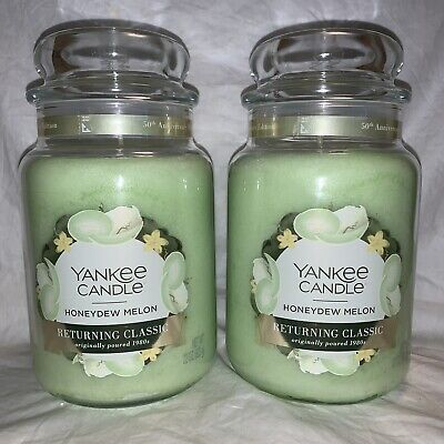 Yankee Candle Honeydew Melon, 22 Oz. Lot Of 2, 50th Anniversary Special Label!