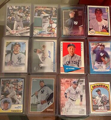 Over 950 New York Yankee's Baseball Card Lot: Judge Rookie, Limited # And Autos