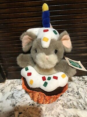 "Charming Tails Plush Mouse ""birthday Surprise"" New With Tag 10"""