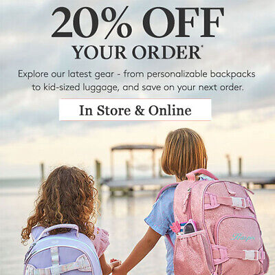 20% Off Pottery Barn Kids Coupon *  Regular Price Purchase * Exp 2/28/20