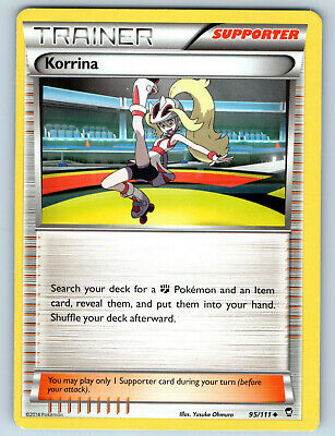 Off-Center Miscut Furious Fists Korrina 95/111 Pokemon Error Card