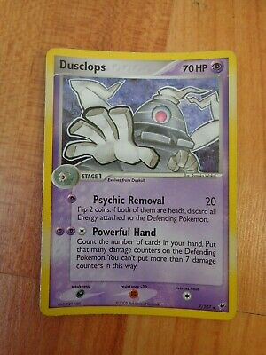 Rare Holo Dusclops 7/107 Ex Deoxys Set Pokemon Card