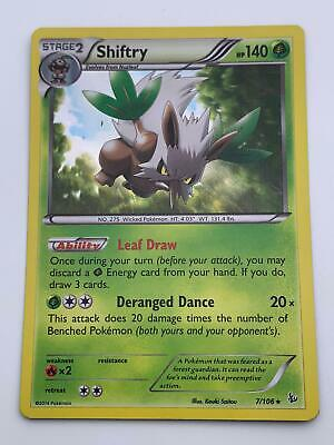 Pokemon💎Shiftry Holo Rare💎2014 - XY - Flashfire - #7/106🌟