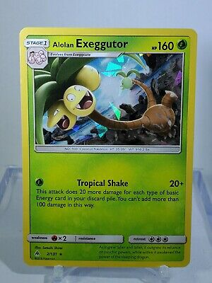 Pokemon : SM FORBIDDEN LIGHT ALOLAN EXEGGUTOR 2/131 RARE SHATTERED GLASS HOLO