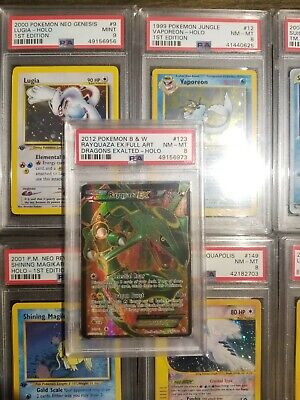 2012 Pokemon B&W Dragons Exalted Full Art Rayquaza EX 123/124 PSA 8 NM-MT