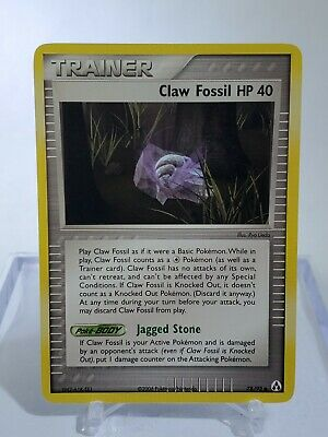 Claw Fossil 78/92 Pokemon Card EX Legend Maker