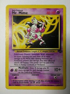 Pokemon  Mr. Mime Rare Non Holo 22/64 Jungle Set. PL