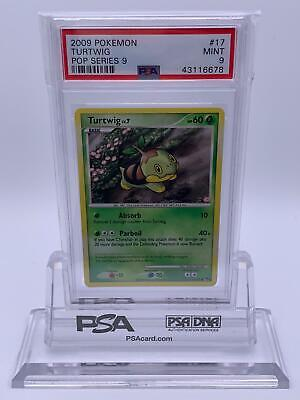 Pokemon💎Turtwig PSA 9💎2009 POP Series Promo 9 #17/17🌟Nintendo🌟Rare💫POP 2💫