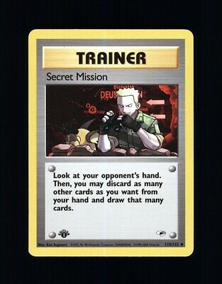 1st Edition Secret Mission Trainer 118/132 Gym Heroes - Pokemon Tcg