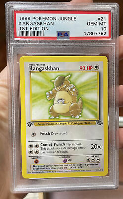 Kangaskhan 1st Edition Jungle Gem Mint 10 PSA Pokemon #21