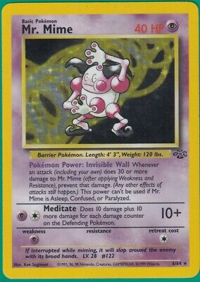 Mr. Mime 6/64 Jungle Holo Rare Pokemon Played