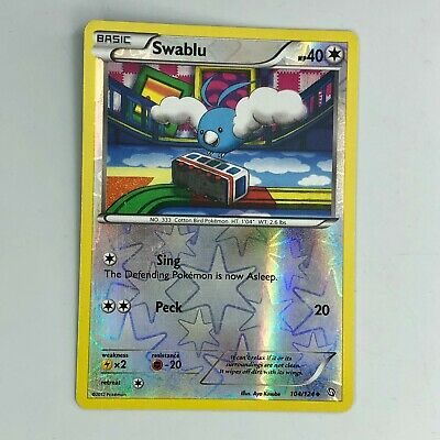 Pokemon Swablu 104/124  Black & White Dragons Exalted Uncommon Reverse Holo 2012