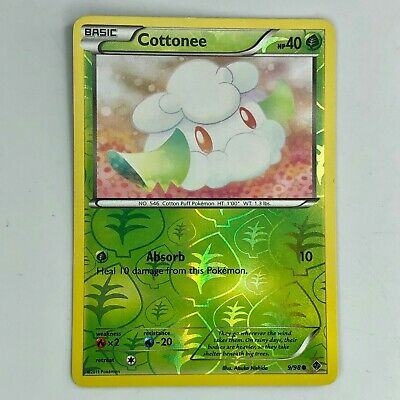 Pokemon Cottonee 9/98 - Reverse Holo Common Emerging Powers Set - 2011 TCG