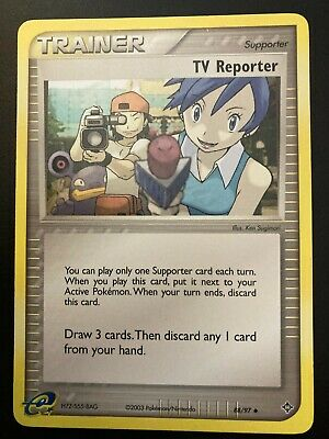 EX Dragon Frontiers - TV Reporter - 82/101 - Pokemon Trainer Card