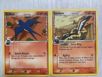 Taillow 66/101 & Swellow [Delta Species] 40/101 EX Dragon Frontiers Pokemon TCG