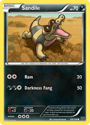 Sandile XY 69 Pokemon