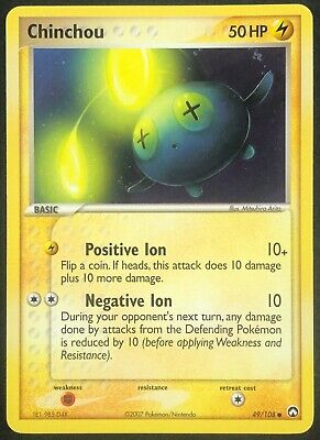 Pokemon Card Chinchou (EX Power Keepers) 49/108 EXC/NM Non-Holo Common TCG!!!!!!