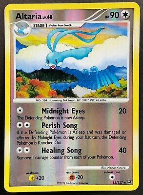 Pokemon Card Altaria LV.48 Platinum 18/127 EXCELLENT/NEAR MINT Reverse Holo Rare