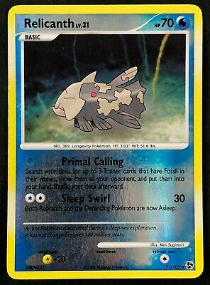 Pokemon Card Relicanth LV.31 Great Encounters 51/106 EXCELLENT Reverse Holo TCG!