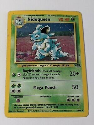 Pokemon: Nidoqueen 7/64 Rare Holo. Jungle Set. HP/PL.