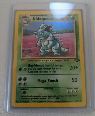 Nidoqueen - 7/64 - Rare Holo WOTC TCG Jungle Set - Pokemon Card - Played