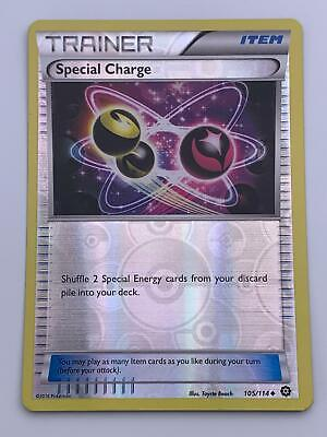 Pokemon💎Special Charge Reverse Holo💎2016 XY - Steam Siege 105/114🌟Rare Card
