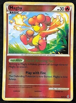Pokemon Card Magby Call of Legends 46/95 EXCELLENT Reverse Holo Uncommon TCG!!!!