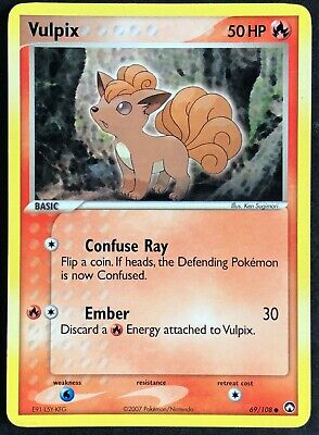 Pokemon Card Vulpix (EX Power Keepers) 69/108 EXC/NM Non-Holo Common TCG!!!!!!!!