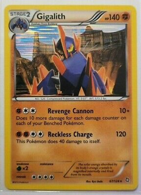 Pokemon Single Dragons Exalted Gigalith Holo Rare 67/124 NM/M Condition